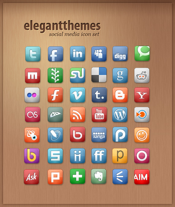 42 Social Media Icon Set
