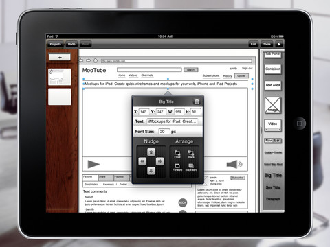 iMockups iPad App