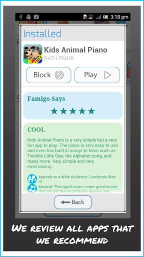 Famigo Sandbox Android App