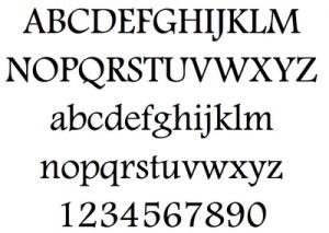 Footlight MT light Font