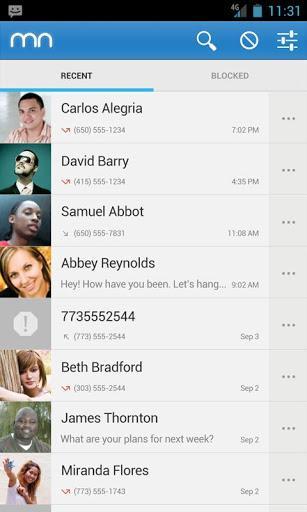 Mr. Number Call Block Android App