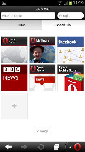 Opera Mini Web Browser Android App