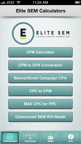 SEM Calculator iOS App