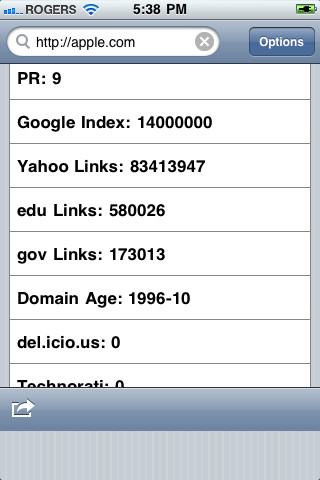 SEOStats iOS App