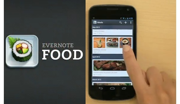 evernote food app for iOS