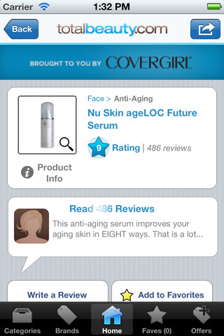 Beauty Product Reviews iOS App