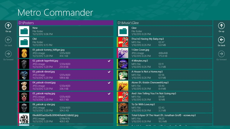 Metro Commander Windows 8 App
