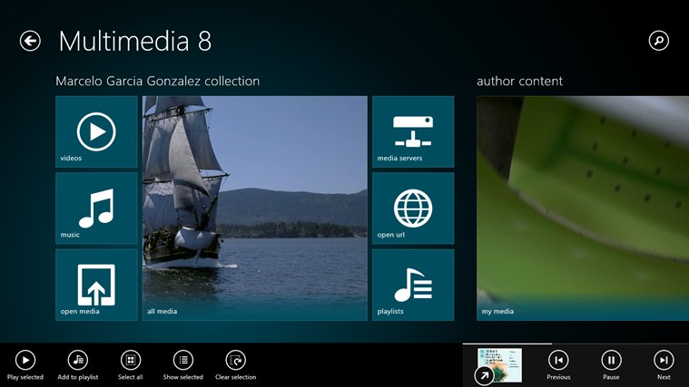 Multimedia 8 Windows 8 App