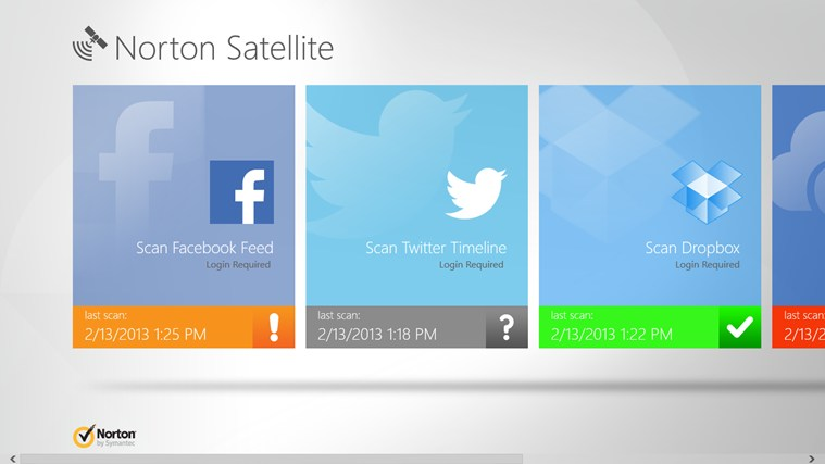 Norton Satellite Windows 8 App