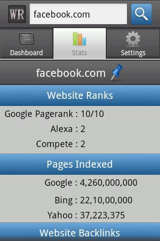 WebRank SEO Android App