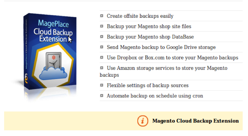 Cloud Backup Extension