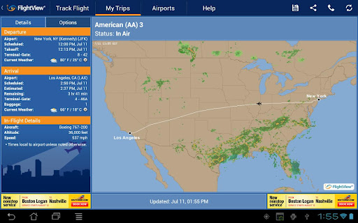 FlightView Free Flight Tracker Android App