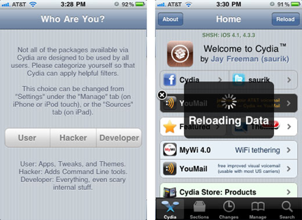 Launching Cydia