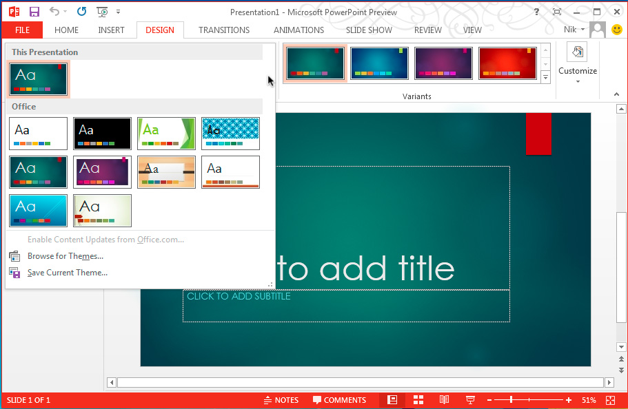 5 tips to choose best powerpoint templates for presentations techmagz ms powerpoint 2013 toneelgroepblik Choice Image