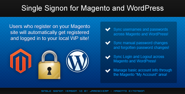Single Sign-on Magento Extension