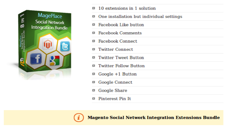 Social Network Integration Bundle