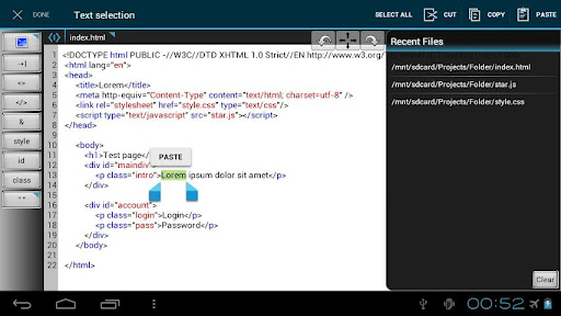 WebMaster HTML Editor Lite Android App