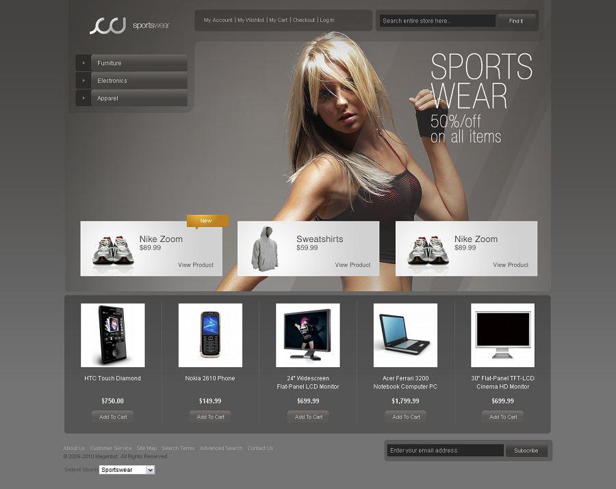 Sportswear Magento Theme