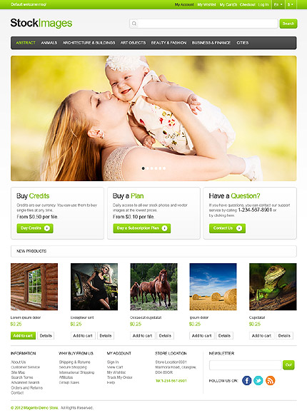 Image Store Magento Theme