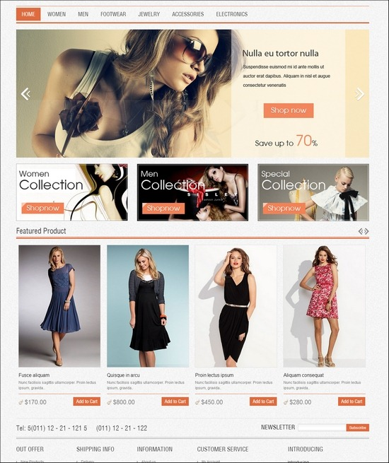 Fancy Magento Theme