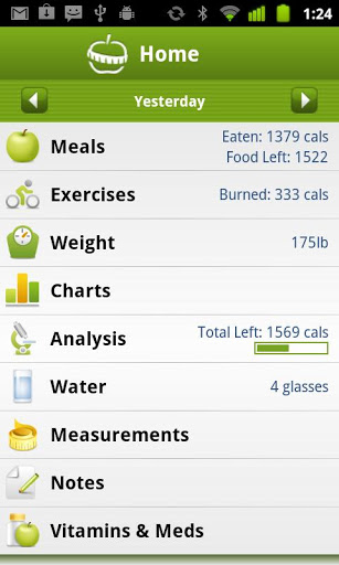 Calorie Counter PRO MyNetDiary Android App