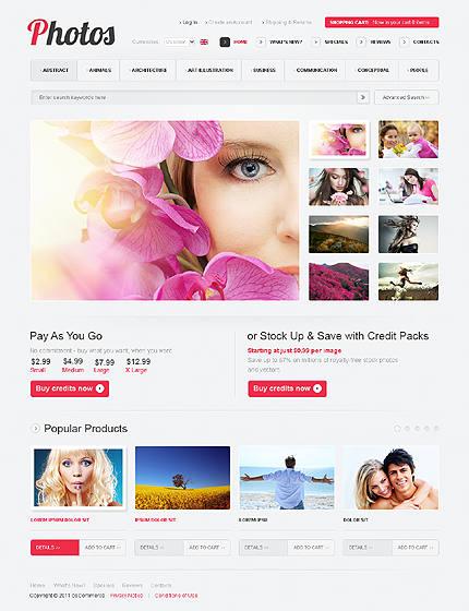Photos Magento Theme