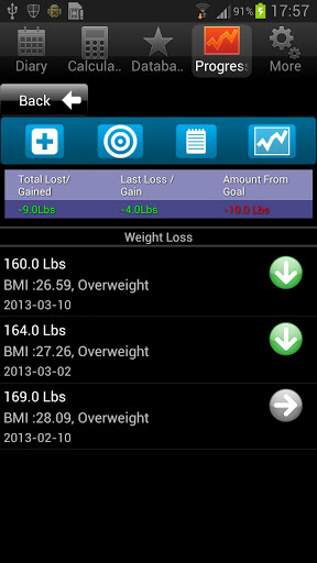 Ultimate Food Value Diary 2013 Android App