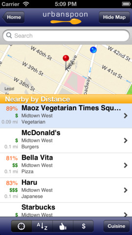 Urbanspoon iOS App