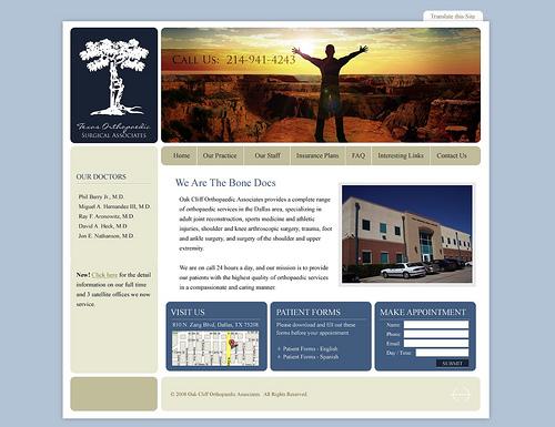 own website