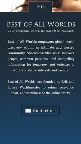 Best of All Worlds iOS App