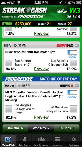 ESPN Streak for the Cash App