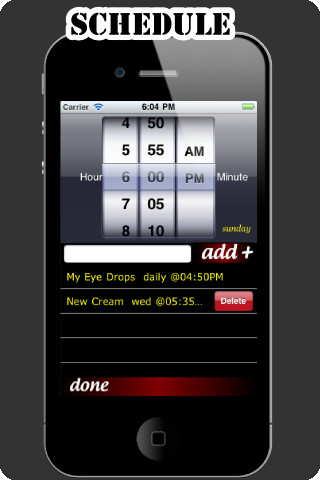 Pill Reminder Pro iPhone App