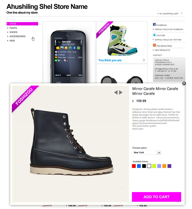 eCommerce Product Sales Pages