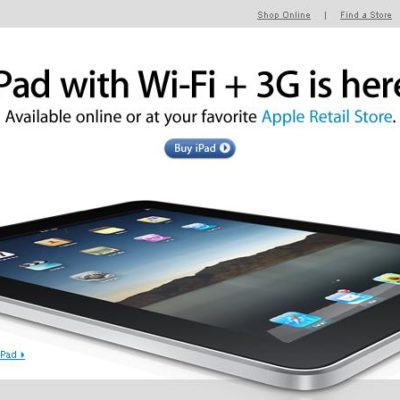 The iPad 3G (Third Generation) – Out Of Production, But Not Dead