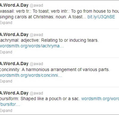 5 Twitter Feeds To Learn A New Word Daily