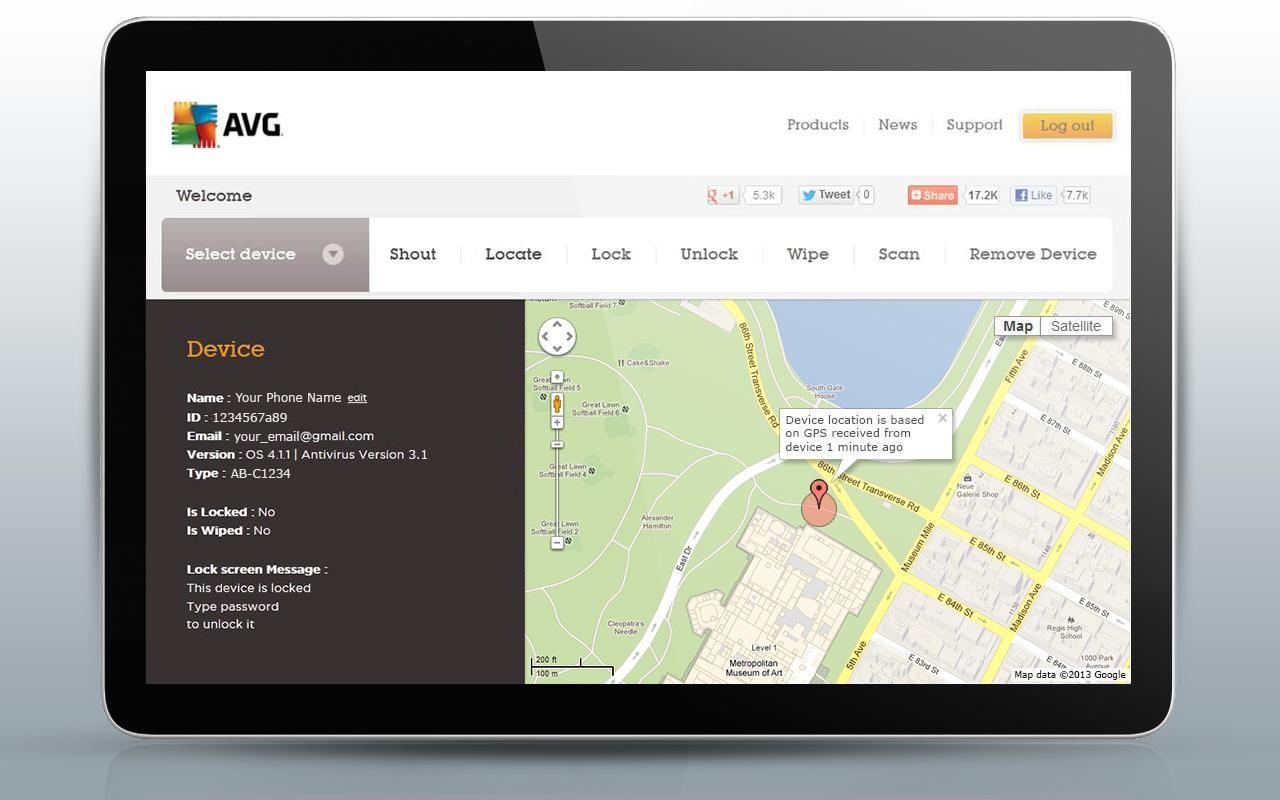 AVG Mobile Antivirus Security PRO