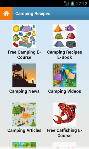 Camping Recipes Android App