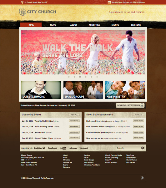 Moses Church WordPress Theme
