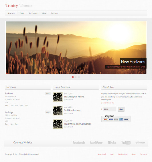 Trinity Church WordPress Theme
