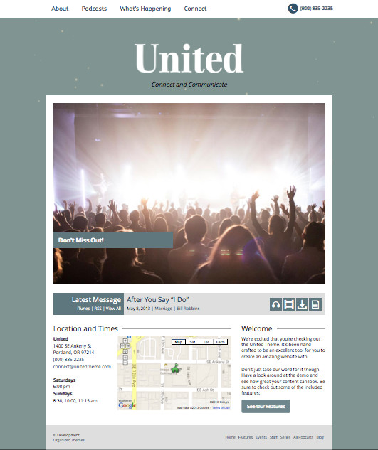United Church WordPress Theme
