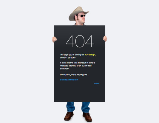 Addthis 404 page design