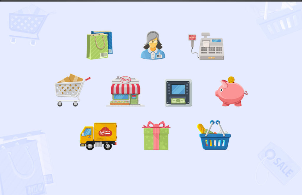 Free Charming Boutique Icon Set by TechMagz.com