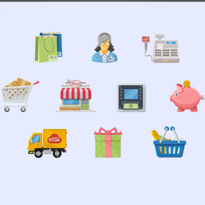 12 Free Charming Boutique Icon Set for Online Stores