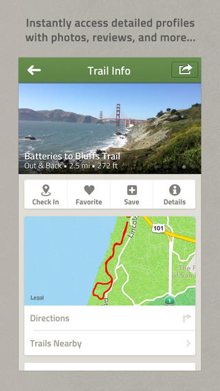 AllTrails app for ios