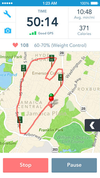 RunKeeper iOS app