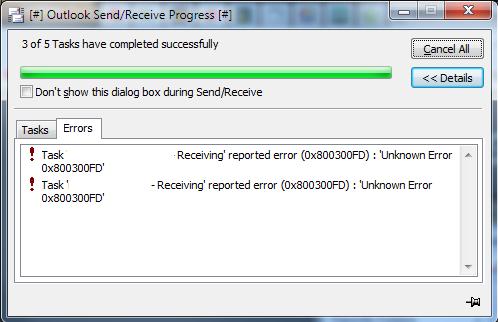 Send and Receive Error