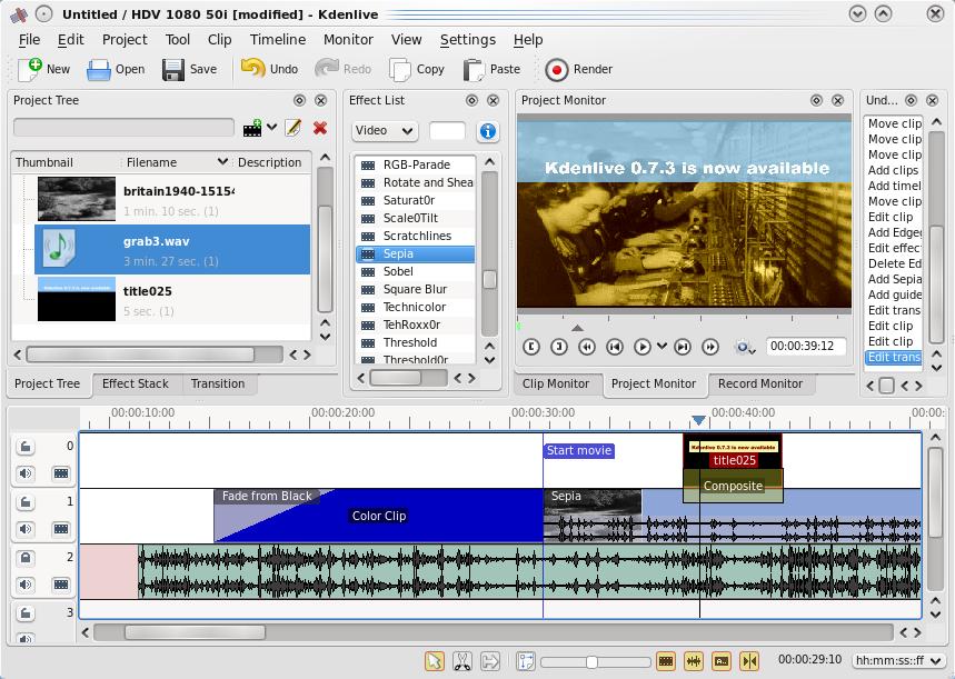 Kdenlive Linux Video Software