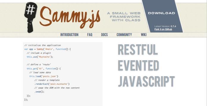 Sammy js Web Framework