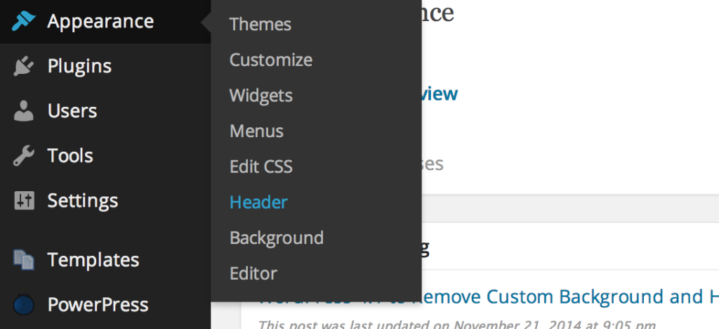 Admin Header for WordPress
