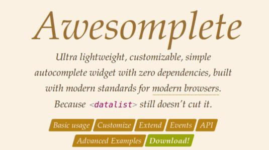Awesomeplete Tool for graphic designer